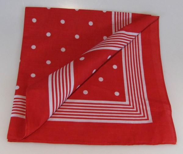 Vierecktuch große Punkte 70x70 cm Halstuch rot Tücher
