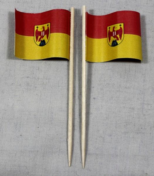 Party-Picker Flagge Burgenland Österreich Papierfähnchen in Spitzenqualität 50 Stück Beutel