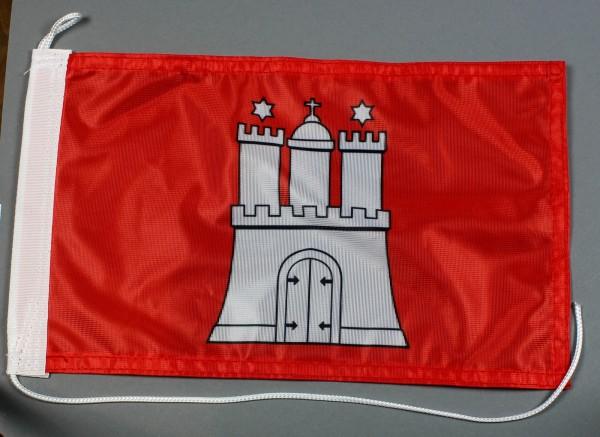 Bootsflagge : Hamburg 30x20 cm Motorradflagge