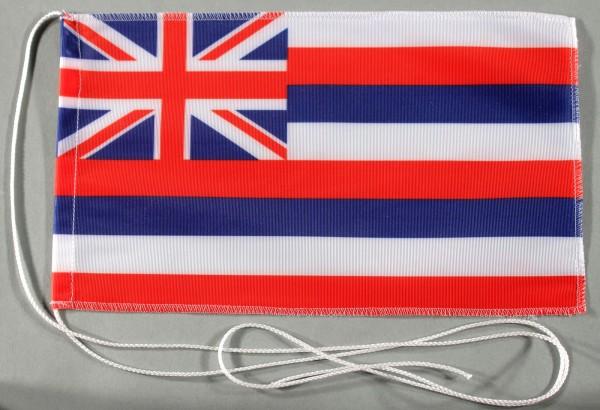 Tischflagge Hawaii USA Bundesstaat US State 25x15 cm optional mit Holz- oder Chromständer Tischfahne