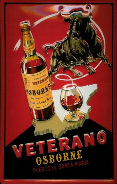 Blechschild Osborne Veterano Stier Spanien Stierkampf Schild Nostalgieschild
