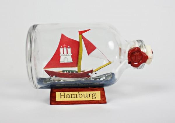 Hamburg Mini Buddelschiff 50 ml ca. 7,2 x 4,5 cm Flaschenschiff