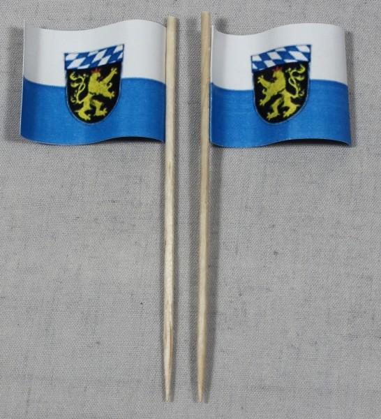 Party-Picker Flagge Oberbayern Papierfähnchen in Spitzenqualität 50 Stück Beutel
