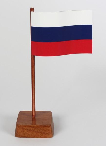 Mini Tischflagge Russland Rußland Höhe 13 cm Tischfähnchen