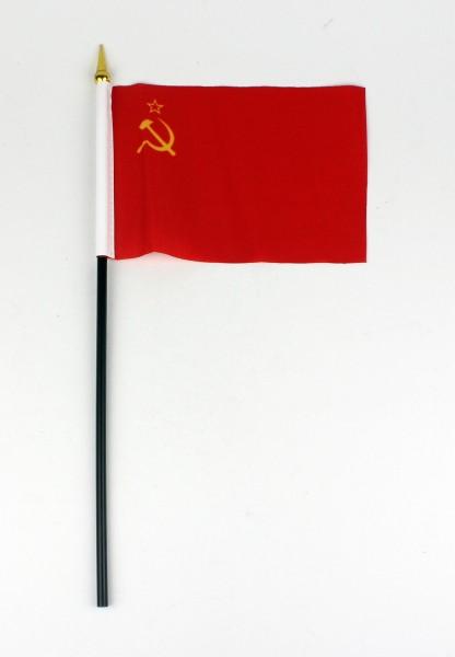 Kleine Tischflagge Sowjetunion UdSSR 10x15 cm optional mit Tischfähnchenständer