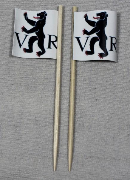 Party-Picker Flagge Appenzell Ausserhoden Kanton Schweiz Papierfähnchen in Spitzenqualität 50 Stück