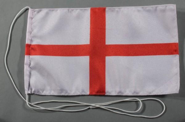 Tischflagge England rotes Kreuz 25x15 cm optional mit Holz- oder Chromständer Tischfahne Tischfähnch