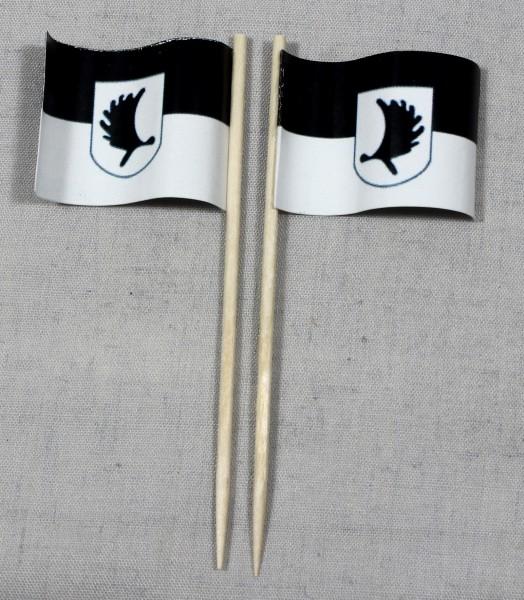Party-Picker Flagge Ostpreusen Landsmannschaft Elch Papierfähnchen in Spitzenqualität 50 Stück Beute
