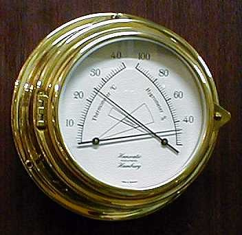 Thermometer / Hygrometer 150 mm Messing