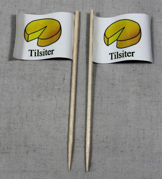 Party-Picker Flagge Tilsiter Käse Papierfähnchen in Spitzenqualität 50 Stück Beutel