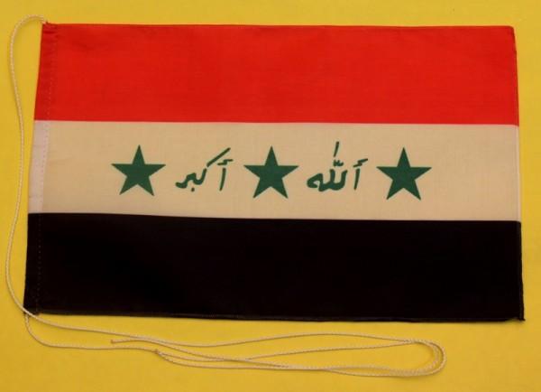 Tischflagge Irak 25x15 cm optional mit Holz- oder Chromständer Tischfahne Tischfähnchen