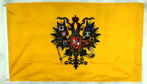 Flagge Fahne : Russland Romanow Zar Zarenflagge