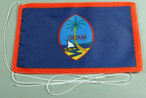 Tischflagge Guam 25x15 cm optional mit Holz- oder Chromständer Tischfahne Tischfähnchen