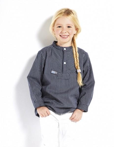 Kinder Fischerhemd - Basic - schmalgestreift Kinderkleidung Hemd alle Größen