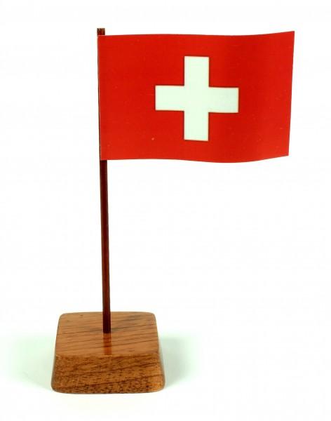Mini Tischflagge Schweiz Höhe 13 cm Tischfähnchen