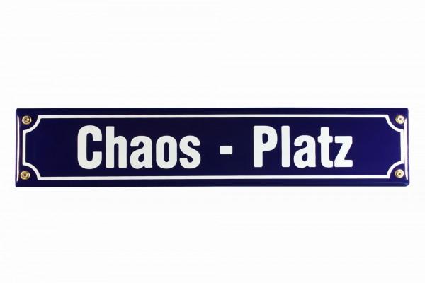 Strassenschild Chaos Platz 40x8 cm Email Strassen Schild Emaille