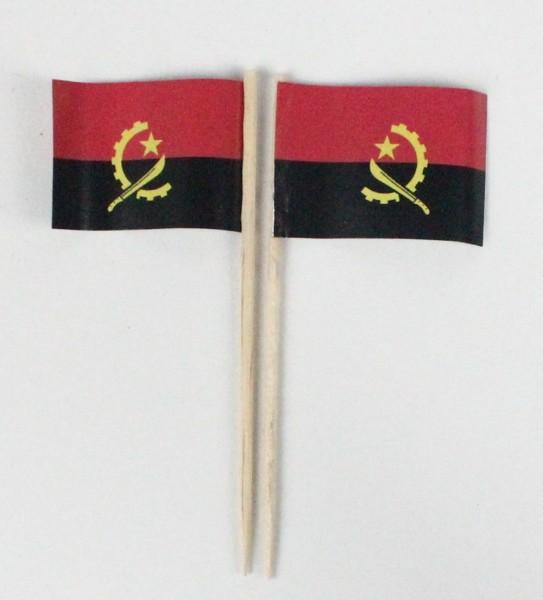 Party-Picker Flagge Angola Afrika Papierfähnchen in Spitzenqualität 50 Stück Beutel