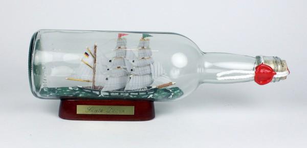 Seute Deern 700 ml runde Flasche Buddelschiff Flaschenschiff