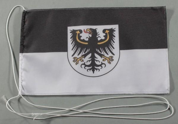 Tischflagge Ostpreußen Ostpreussen 25x15 cm optional mit Holz- oder Chromständer Tischfahne Tischfäh