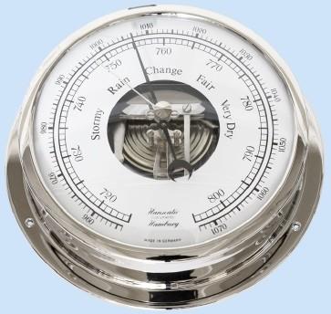 Schiffs Barometer 155 mm verchromtes Gehäuse