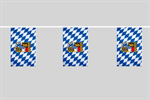 Bayern Raute mit Wappen Flaggenkette 6 Meter / 8 Flagge Fahne