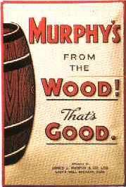 Blechschild Murphys from the Wood Beer Bier retro Schild Werbeschild