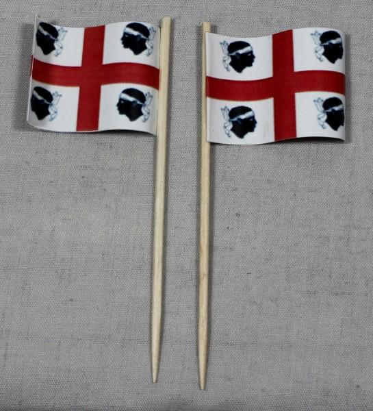 Party-Picker Flagge Sardinien Italien Papierfähnchen in Spitzenqualität 50 Stück Beutel