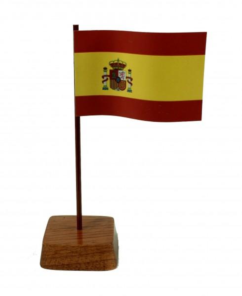 Mini Tischflagge Spanien Höhe 13 cm Tischfähnchen