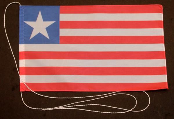 Tischflagge Liberia 25x15 cm optional mit Holz- oder Chromständer Tischfahne Tischfähnchen
