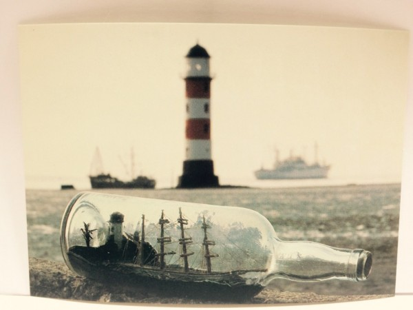 Buddelschiff - Postkarte ec03