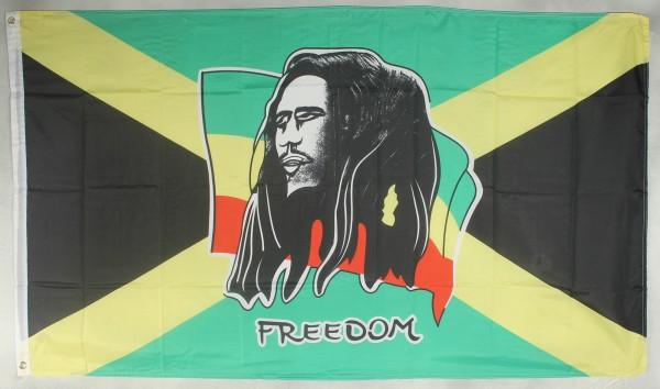 Flagge Fahne : Bob Marley Freedom Jamaica Jamaika