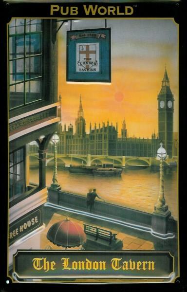 Blechschild Nostalgieschild : The London Tavern