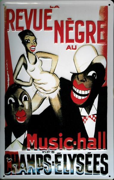 Blechschild Revue Negre Paris Music Hall Schild Nostalgieschild