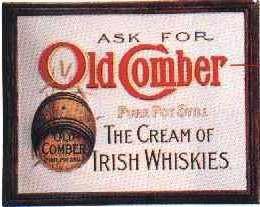 Blechschild Old Comber Cream of Irish Whiskies retro Whisky Reklame Schild