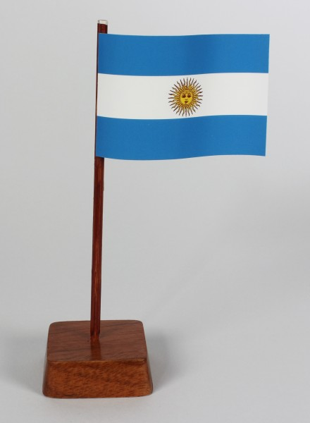 Mini Tischflagge Argentinien Höhe 13 cm Tischfähnchen