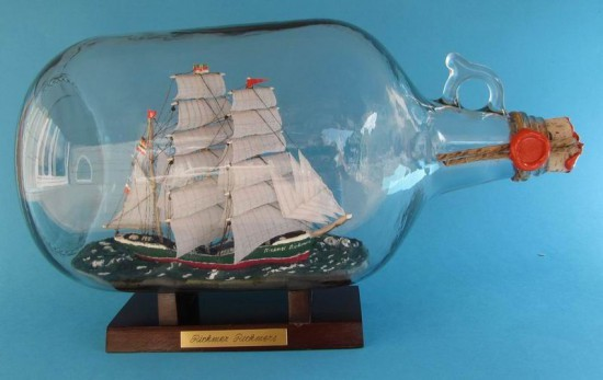 Rickmer Rickmers 1 Gallone - Flasche Buddelschiff Flaschenschiff