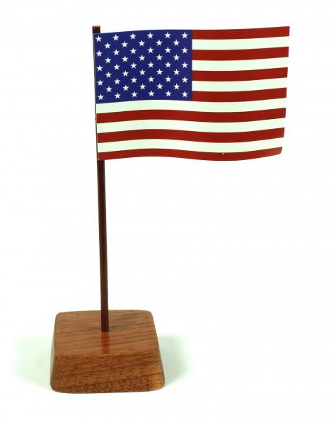 Mini Tischflagge USA Höhe 13 cm Tischfähnchen