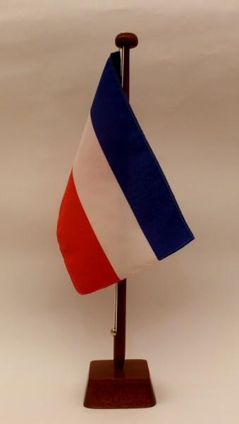 Tischflagge Jugoslawien 25x15 cm optional mit Holz- oder Chromständer Tischfahne Tischfähnchen