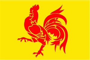 Flagge Fahne : Wallonien (Region) Belgien