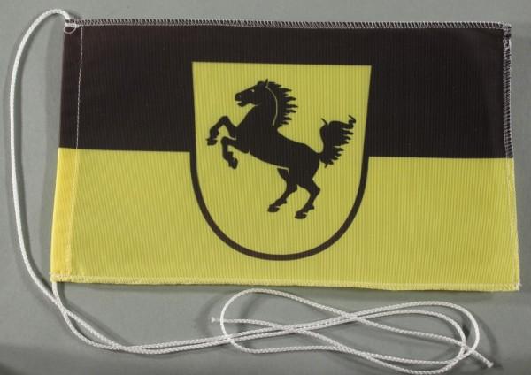 Tischflagge Stuttgart Stadtflagge 25x15 cm optional mit Holz- oder Chromständer Tischfahne Tischfähn