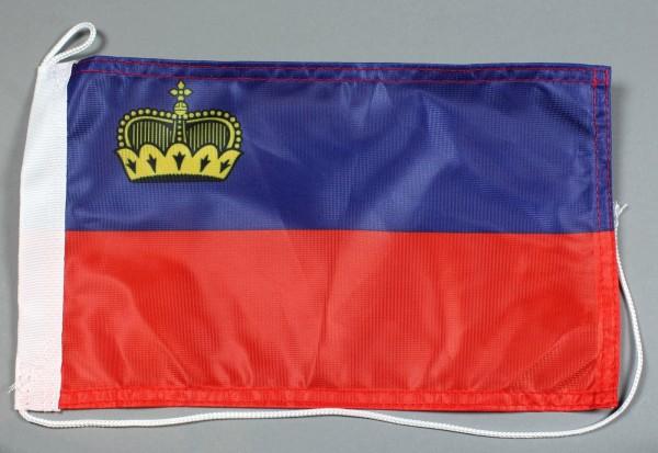 Bootsflagge : Liechtenstein 30x20 cm Motorradflagge