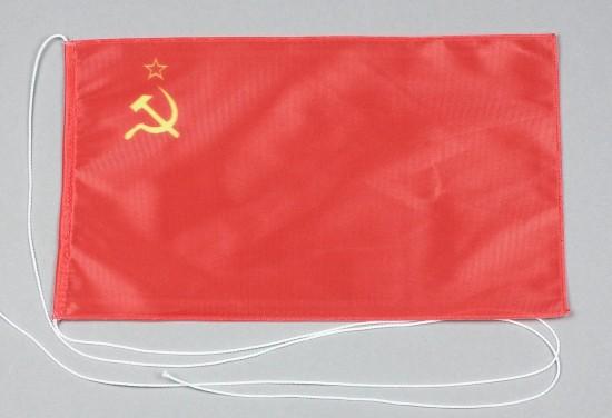 Tischflagge Sowjetunion UdSSR 25x15 cm optional mit Holz- oder Chromständer Tischfahne Tischfähnchen