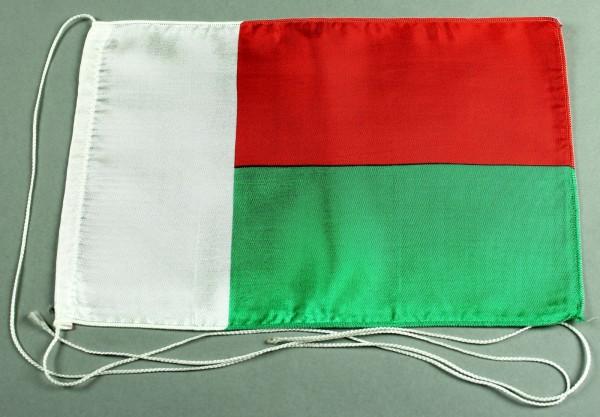 Tischflagge Madagaskar 25x15 cm optional mit Holz- oder Chromständer Tischfahne Tischfähnchen