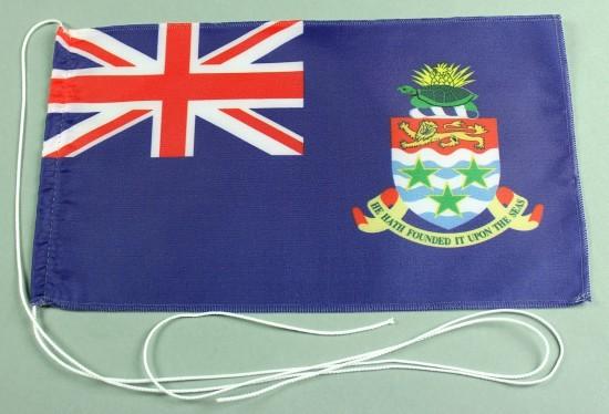Tischflagge Cayman Inseln 25x15 cm optional mit Holz- oder Chromständer Tischfahne Tischfähnchen