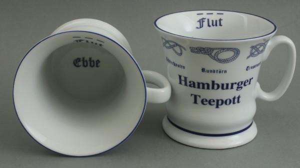 Hamburger Teepott mit Seemannsknoten hoch