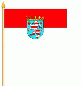Stockflagge Hessen 30x45cm