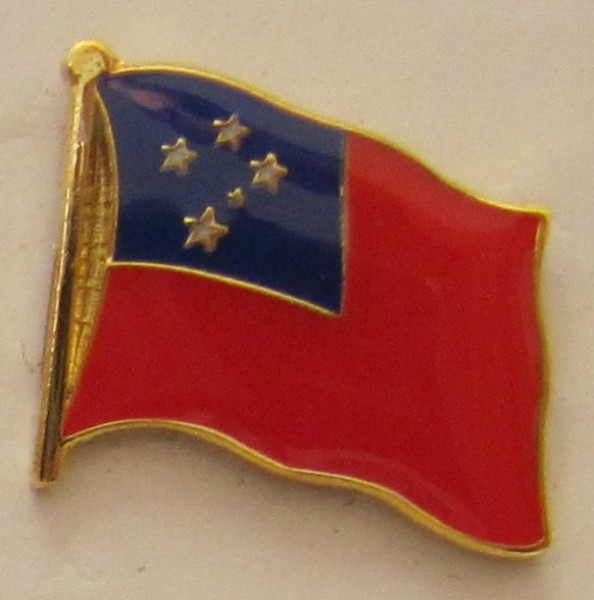 Westsamoa Pin Anstecker Flagge Fahne Nationalflagge