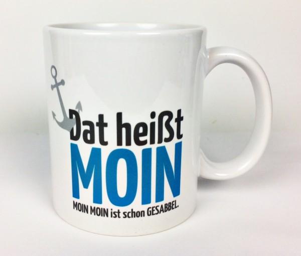 Becher Dat heißt Moin Kaffeebecher Kaffeepott Tasse Anker