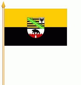 Stockflagge Sachsen-Anhalt 30x45cm