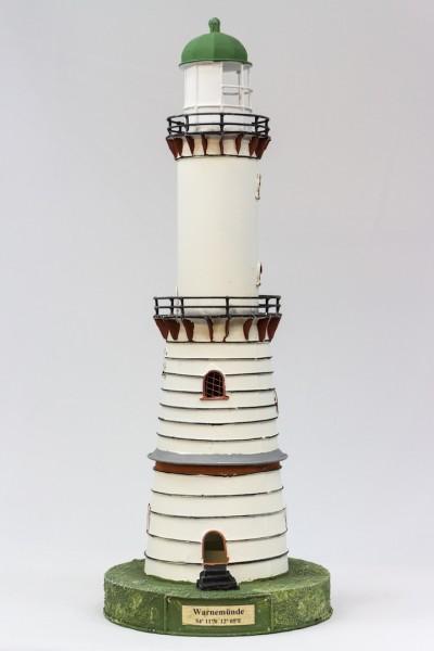 Blechleuchtturm Warnemünde ca. 41 cm Leuchtturm Modell mit Teelichthalter